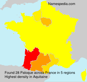 Surname Paloque in France
