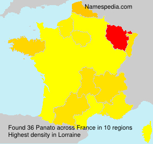 Surname Panato in France