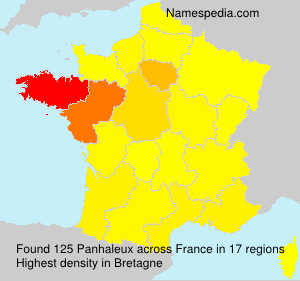 Surname Panhaleux in France