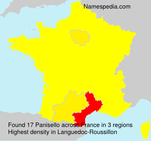 Surname Panisello in France