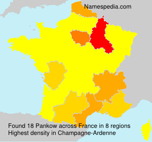 Surname Pankow in France
