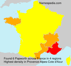 Surname Papworth in France