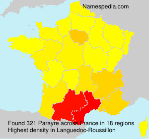 Surname Parayre in France