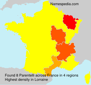 Surname Parentelli in France