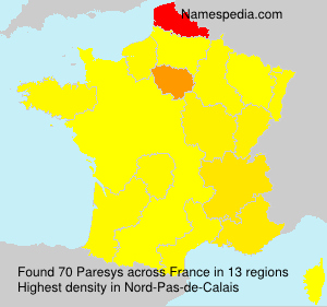 Surname Paresys in France