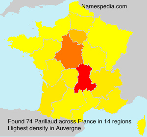 Surname Parillaud in France