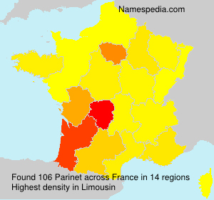Surname Parinet in France