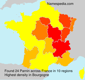 Surname Parnin in France