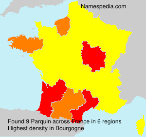 Surname Parquin in France