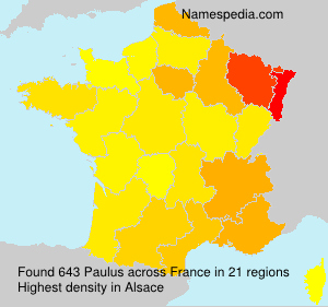 Surname Paulus in France