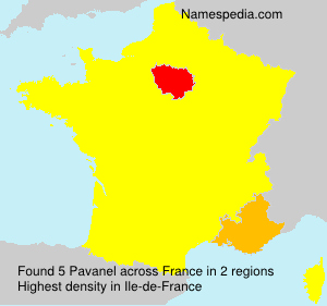 Surname Pavanel in France