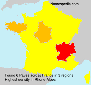 Surname Paves in France