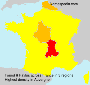 Surname Pavlus in France