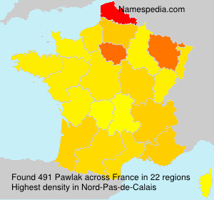 Surname Pawlak in France