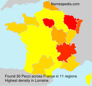 Surname Pecci in France