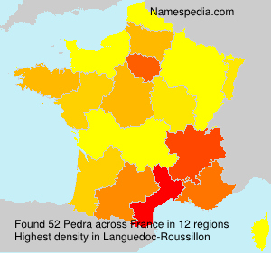 Surname Pedra in France