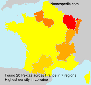 Surname Pektas in France