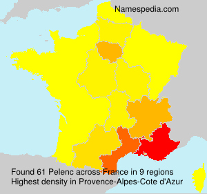 Surname Pelenc in France