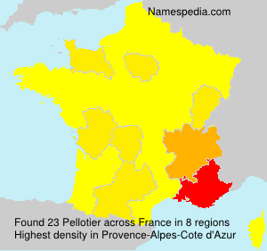 Surname Pellotier in France