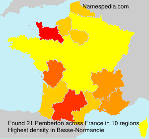 Surname Pemberton in France