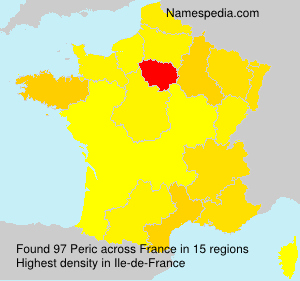 Surname Peric in France