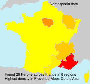 Surname Perone in France