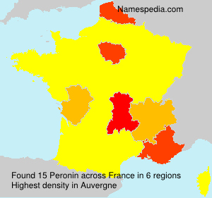 Surname Peronin in France
