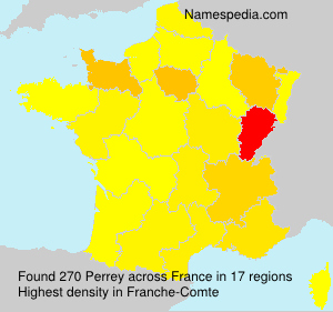 Surname Perrey in France