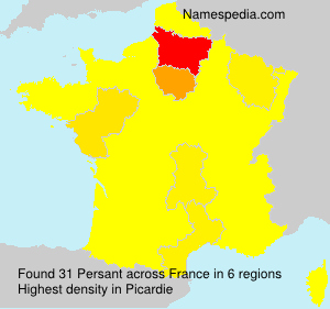 Surname Persant in France