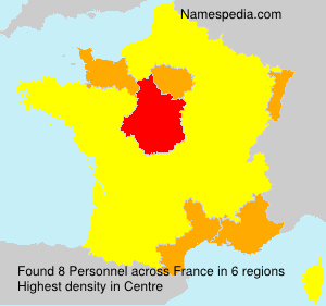 Surname Personnel in France