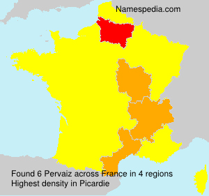 Surname Pervaiz in France