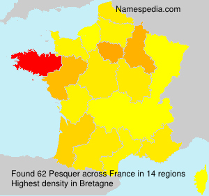 Surname Pesquer in France