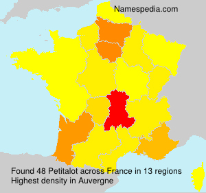Surname Petitalot in France