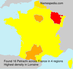 Surname Petrachi in France