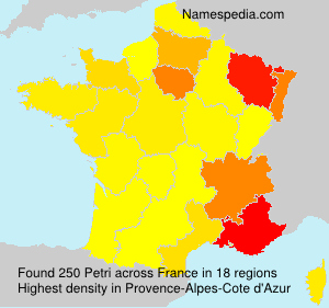 Surname Petri in France