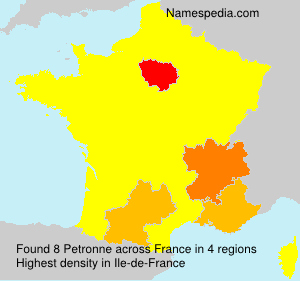 Surname Petronne in France