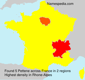 Surname Pettene in France