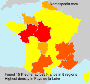 Surname Pfeuffer in France