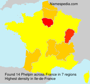 Surname Phelpin in France