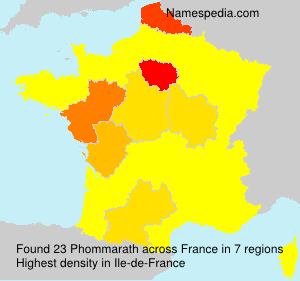 Surname Phommarath in France