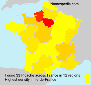Surname Picache in France