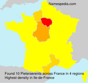 Surname Pieteraerents in France