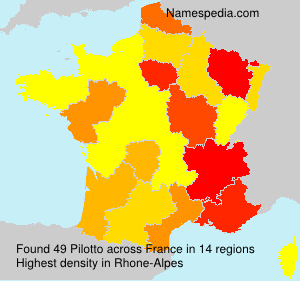 Surname Pilotto in France
