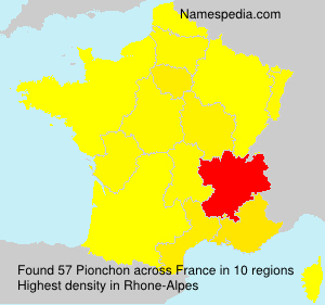Surname Pionchon in France