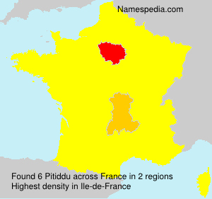 Surname Pitiddu in France