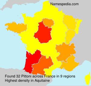 Surname Pittoni in France