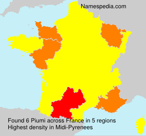 Surname Piumi in France