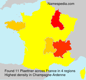 Surname Plaettner in France