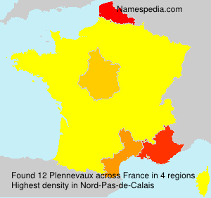 Surname Plennevaux in France