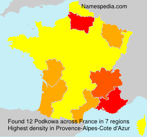 Surname Podkowa in France